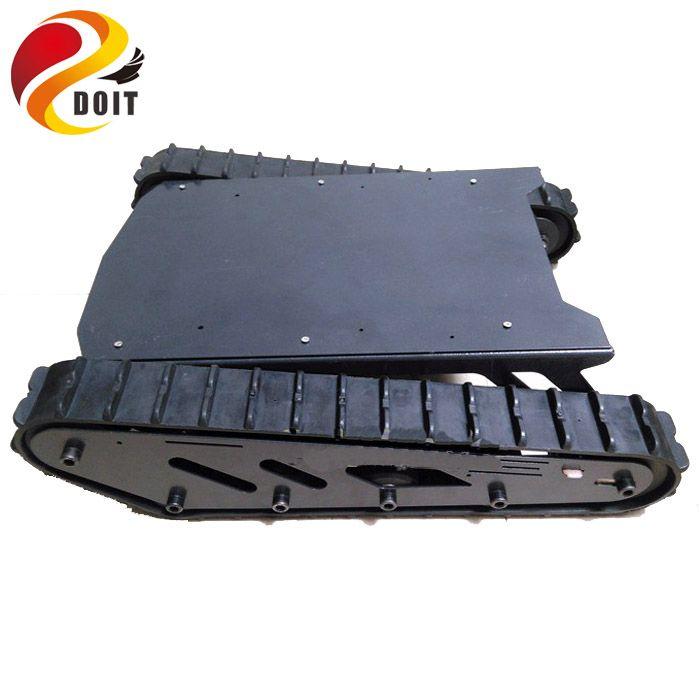 Metall große rc roboter Tank Chassis mit Gummi track Crawler verfolgt auto chase Gürtel Verfolgt Fahrzeug projekt modell DOIT