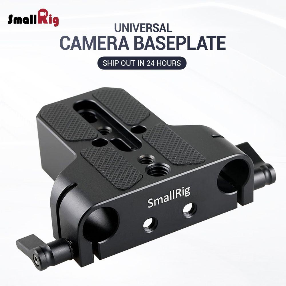 Petite plaque de Base universelle pour appareil photo reflex numérique à profil bas avec pince de Rail de tige de 15mm, telle que pour Sony Fs7, pour Sony A7 Series 1674