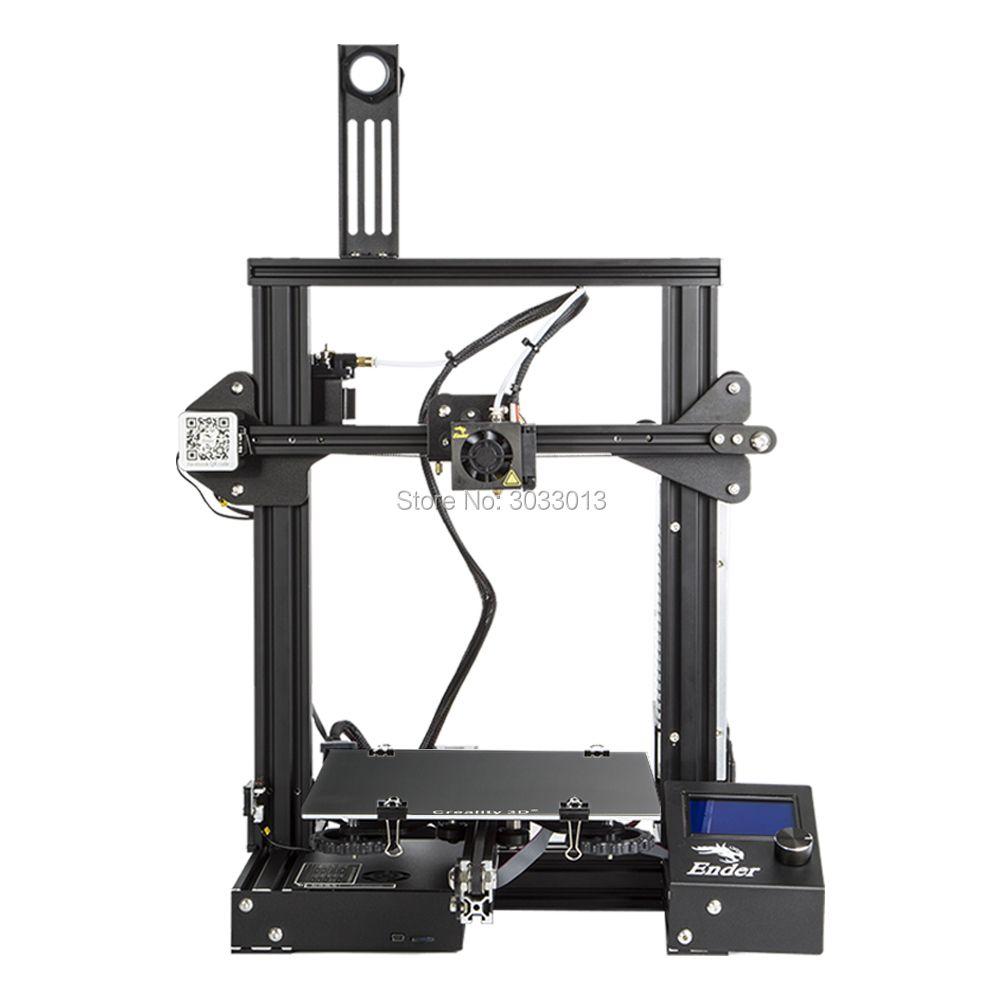 2018 Ender-3 3D Drucker Große Druck Größe 220*220*250mm Ender 3/Ender-3X Abnehmbare Bett i3 fortsetzung Druck von Stromausfall