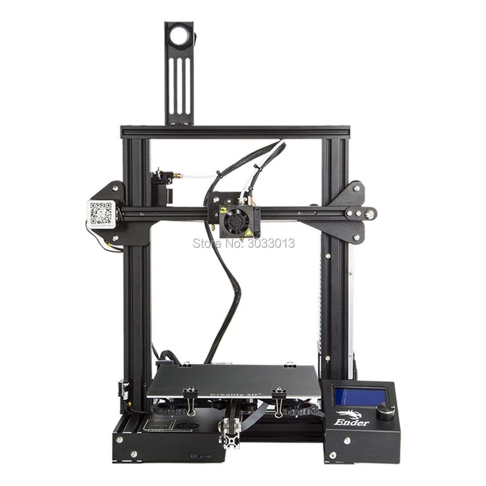 2018 Ender-3 3D Printer Large Print Size 220*220*250mm Removable Bed prusa i3 Continuation Print of Power Failure Creality 3D