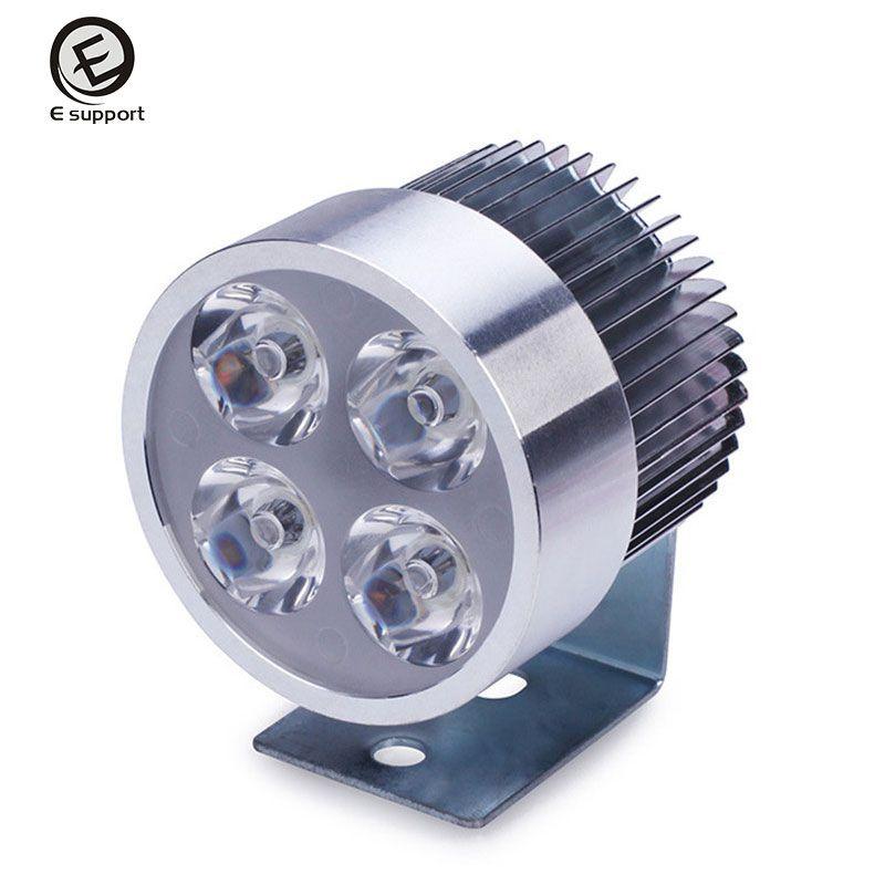 EE unterstützung Hohe Qualität 12 V ~ 80 V DC 4 Watt 4 Licht Perlen Motos Motorrad Scheinwerfer Beleuchtung LED super helle scheinwerfer birne