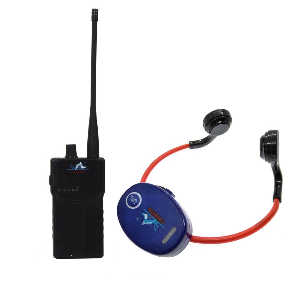 Schwimmen Drahtlose Sende System Lehre Gadget mit 2 Walkie Talkie + 24 Knochen Leitung Wasserdichte Kopfhörer Empfänger
