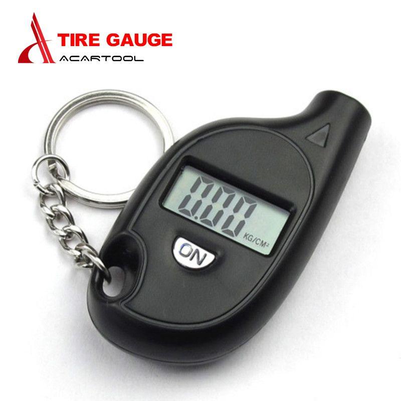 MINI Digital Car Tire Tyre Air Pressure Gauge Meter LCD Display Manometer Barometers Tester for Car Truck Motorcycle 6x3CM Black