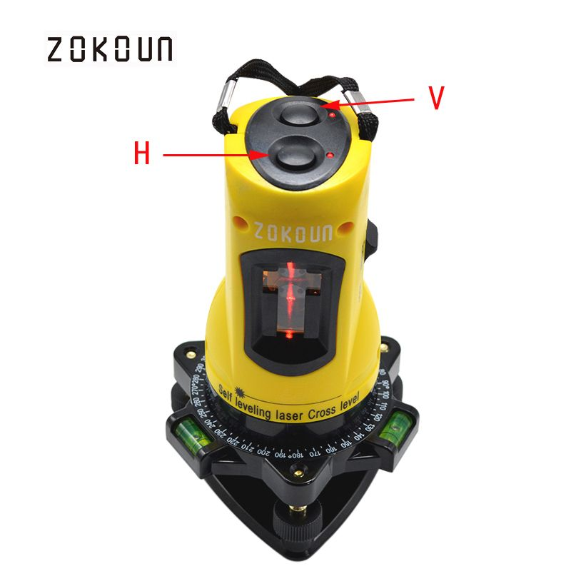 ZOKOUn M02H 360 degrees rotary slash functional self-leveling hight adjustable DIY economic 2 (1V, 1H) <font><b>cross</b></font> lines laser level