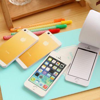 Шт. 1 шт. креативные белые модные стикеры Примечание бумага сотовый телефон в форме memo pad s Бумажный блокнот DIY для Iphone 5