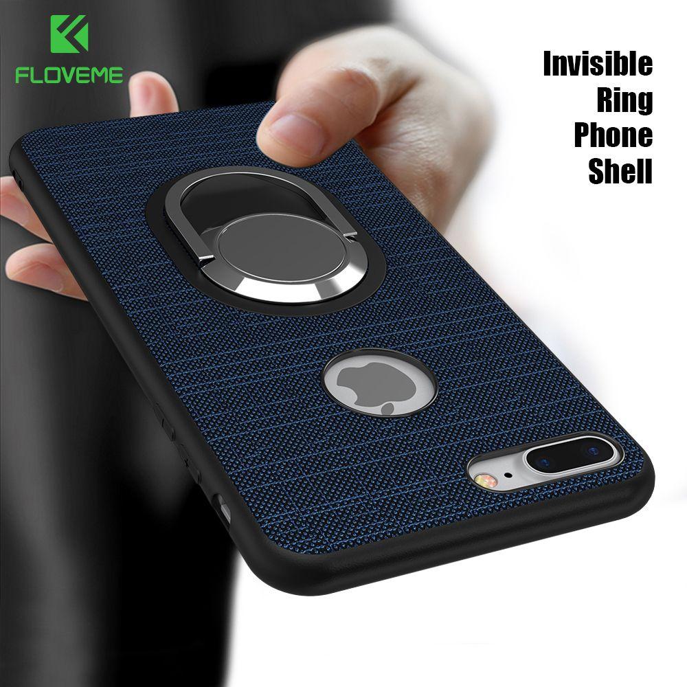 Floveme кольцо держатель чехол для iPhone 7 5S 5 Чехол Магнитный всасывания чехол для телефона iPhone 7 6 6 S плюс IPHONE 5S SE 5 Стенд Крышка