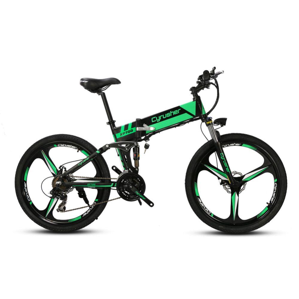 Cyrusher xf700 мужской складной электрический велосипед Горный Полный Подвеска 250 Вт 36 В 21 Скорость ebike для Открытый Отдых Велосипедный Спорт