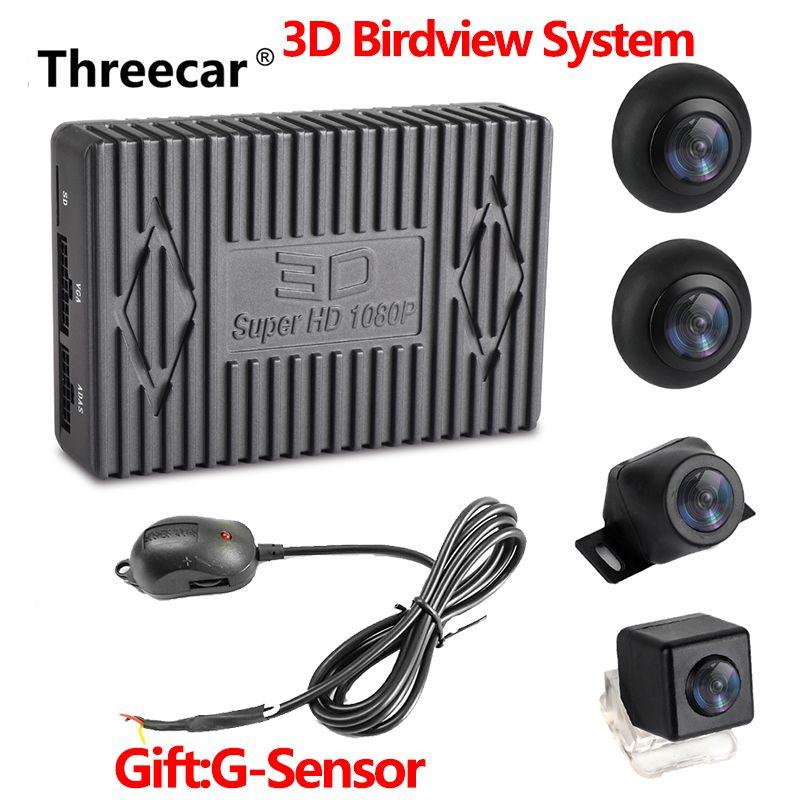 2019 auto DVR HD 3D 360 Surround View System Fahr Mit Vogel Ansicht Panorama System 4 Auto Kamera 3D 1080 P DVR G-Sensor Neue