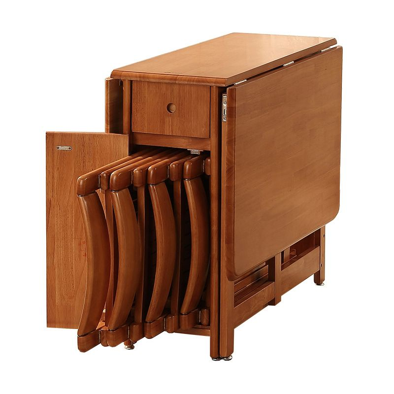 dinette combination household small apartment rectangular Folding space-saving snack table
