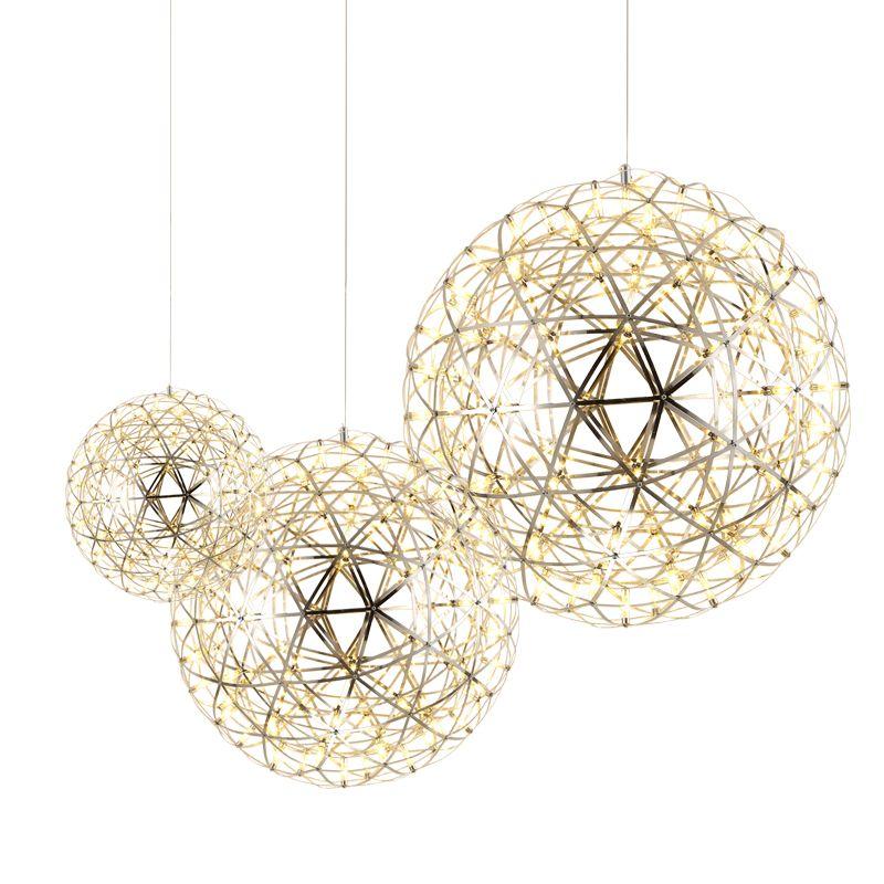 DAR Spark Ball Led Pendant Lamps Modern Pendant Lights 90-260v Stainless Steel Firework Pendant Lighting Dining Room Luminaria