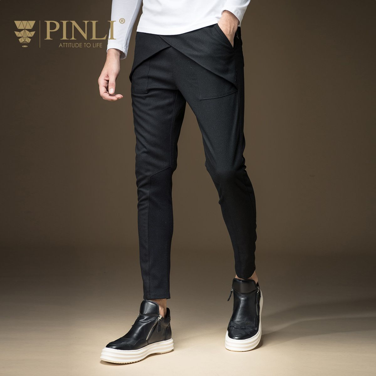 2017 Military Real Straight Mid Youth Autumn New Arrival Men's Clothing Slim Casual Skinny Pants Trousers B163317047