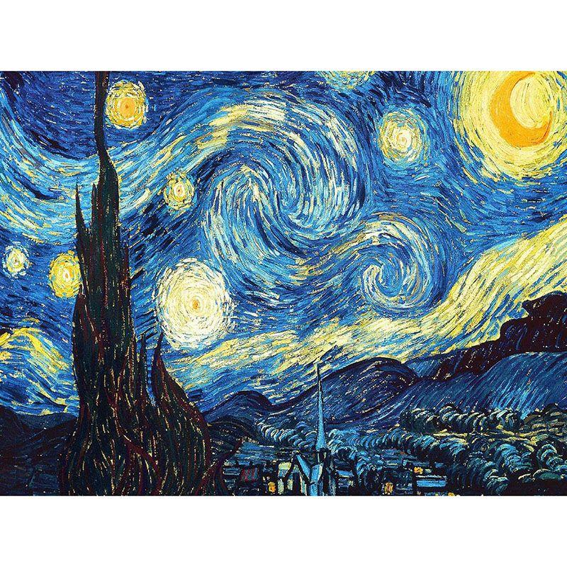 Décoration De La maison BRICOLAGE 5D Diamant Broderie Van Gogh Nuit Étoilée kits de Point De Croix Peinture À L'huile Abstraite Résine D'artisanat zx