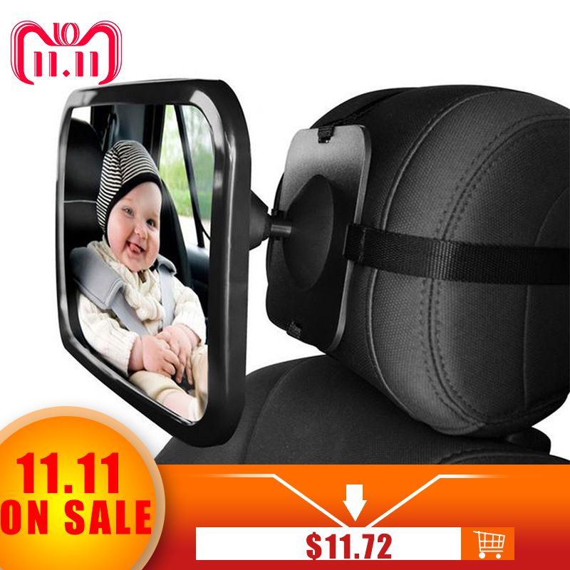VODOOL Adjustable Wide Car Rear Seat View <font><b>Mirror</b></font> Baby/Child Seat Car Safety <font><b>Mirror</b></font> Monitor Headrest High Quality Car Interior