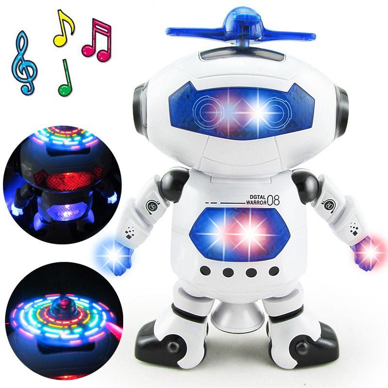 ОСГТ пространство танцы гуманоид робот игрушка со светом Дети Pet Brinquedos электроники Jouets electronique для мальчиков