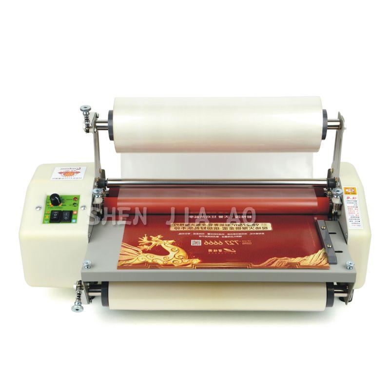 8350 A3 + papier laminator maschine Vier Rollen laminieren maschine 13 Laminator kalt roll laminator 220 v 1 pc