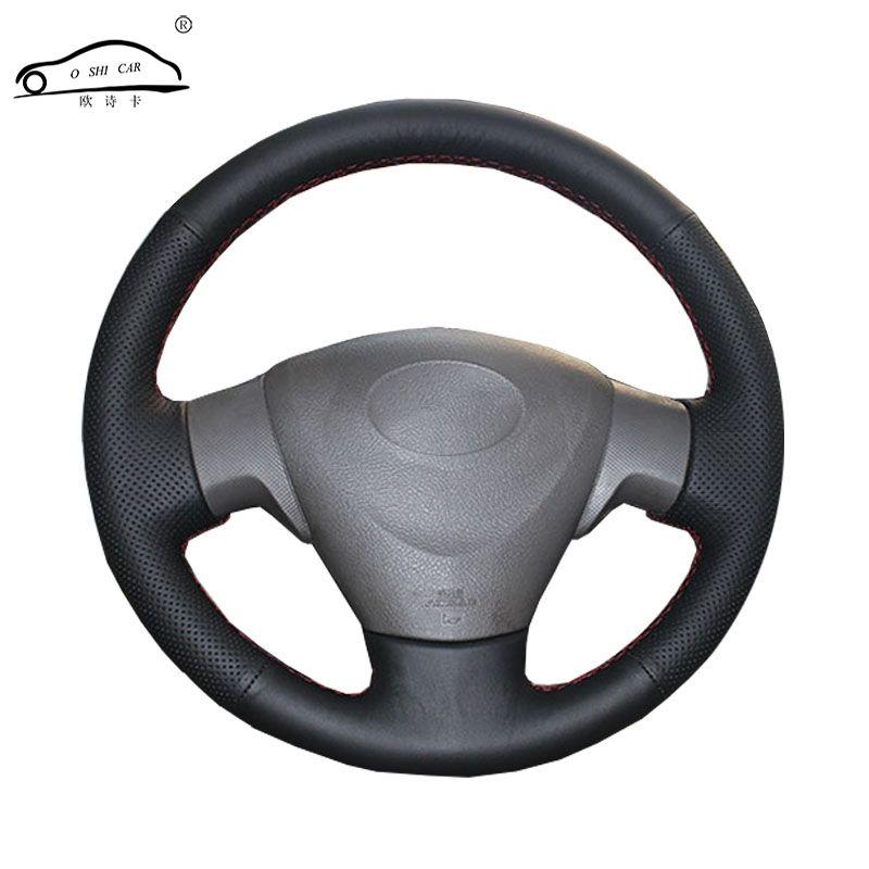 Genuine Leather car steering wheel Cover for Toyota Corolla 2006-2010Matrix 2009 Auris dedicated Steering-Wheel Handlebar Braid