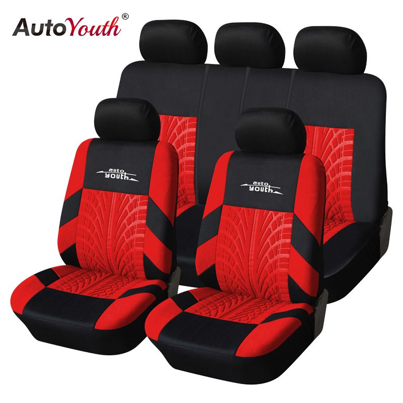 AUTOYOUTH Fashion Tire Track Detail Style Universal Car Seat Covers Fits Most Brand Vehicle Seat Cover Car Seat Protector 4color