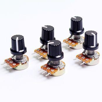5 pcs 10 K OHM 3 Terminal Linéaire Taper Rotary potentiomètre B10K 103 pour Arduino