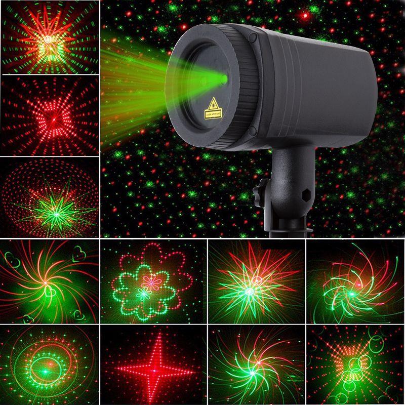De noël Étoiles laser de douche de lumière 24 Modèles de projecteur effet À Distance mobile étanche Extérieure Jardin De Noël décoratif pelouse