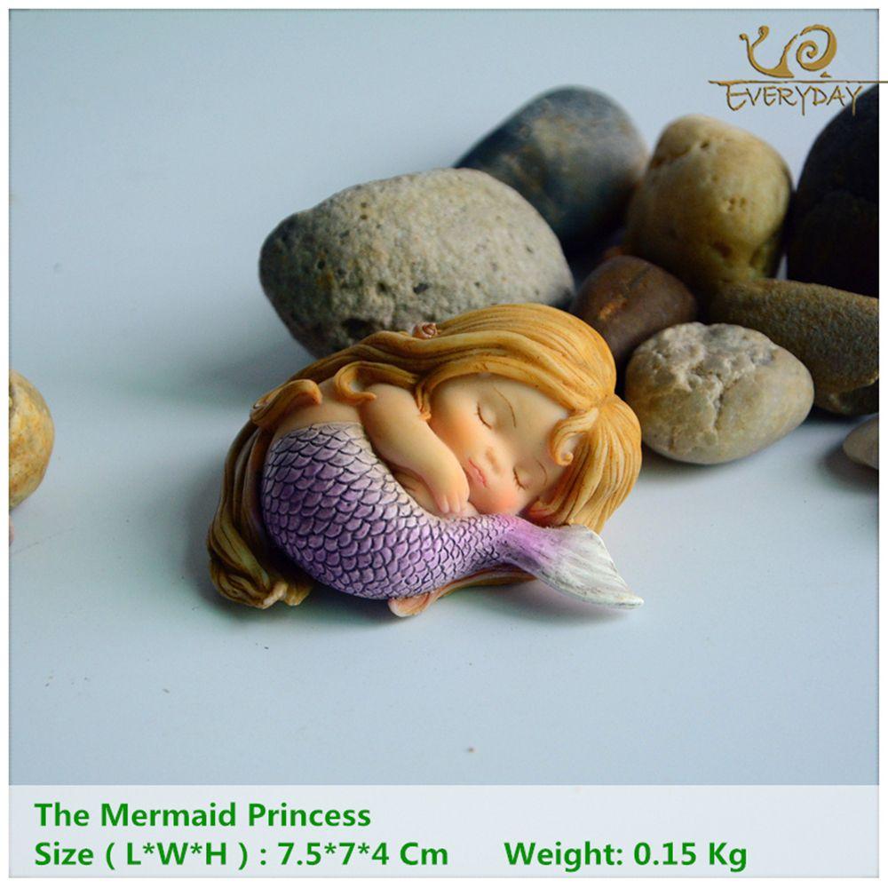 Tous les jours Collection Jardin Fantasy Figurine Œuvres D'art Décor À La Maison Cadeaux Résine Miniature Sirène Princesse Statue Fée