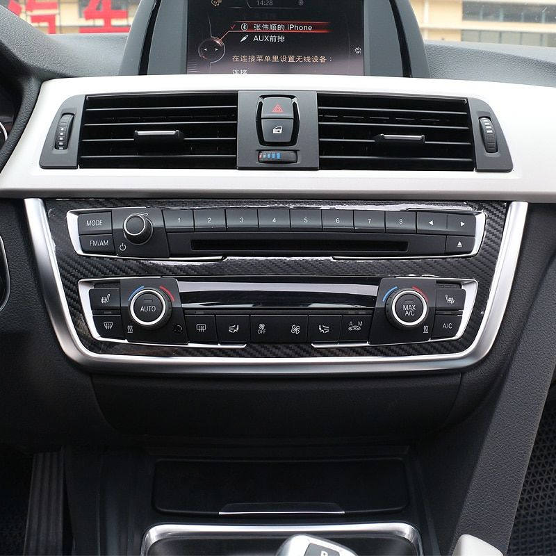 ABS Car Control Panel Chrome Pearl Decorative COVER Trim For BMW 3 Series F30 F31 F32 F34 F36 316 318 320 328 car styling