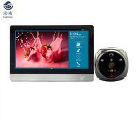 IHome4 WiFi дверной глазок и видео ip-дверной звонок 7 дюймов экран IR PIR дверь HD камера обнаружения движения дверной Звонок
