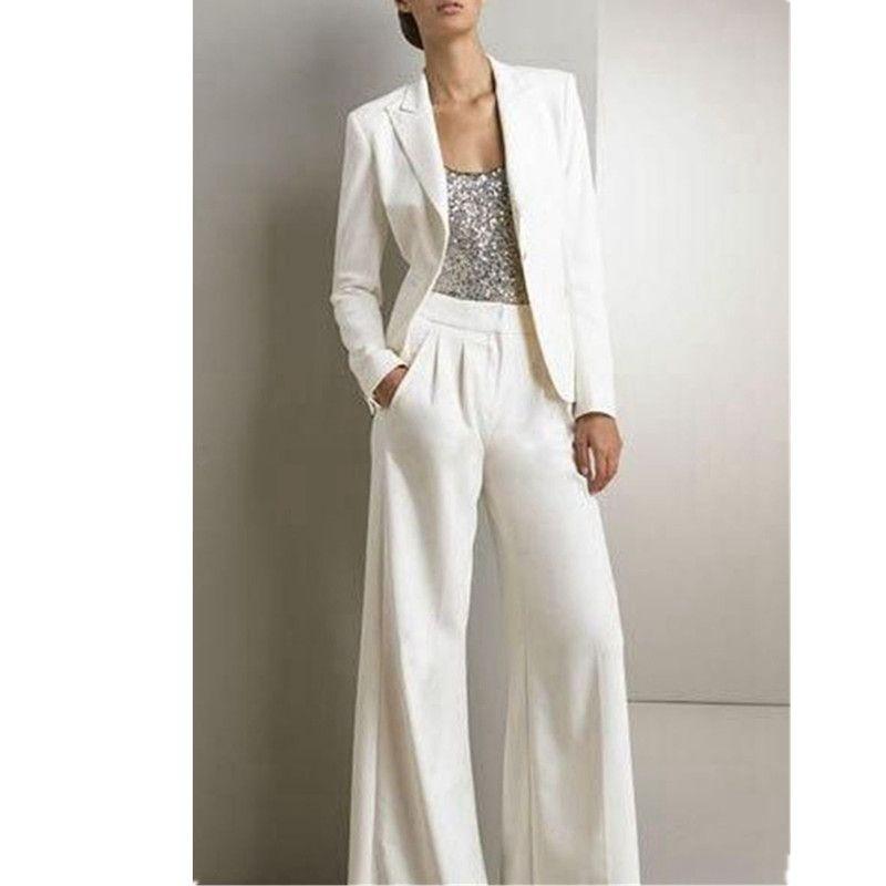 Nouveau Pantalon costume Femmes Dames Formelle Bureau Des Affaires 2 Pièce Veste + Pantalon Costumes Custom Made