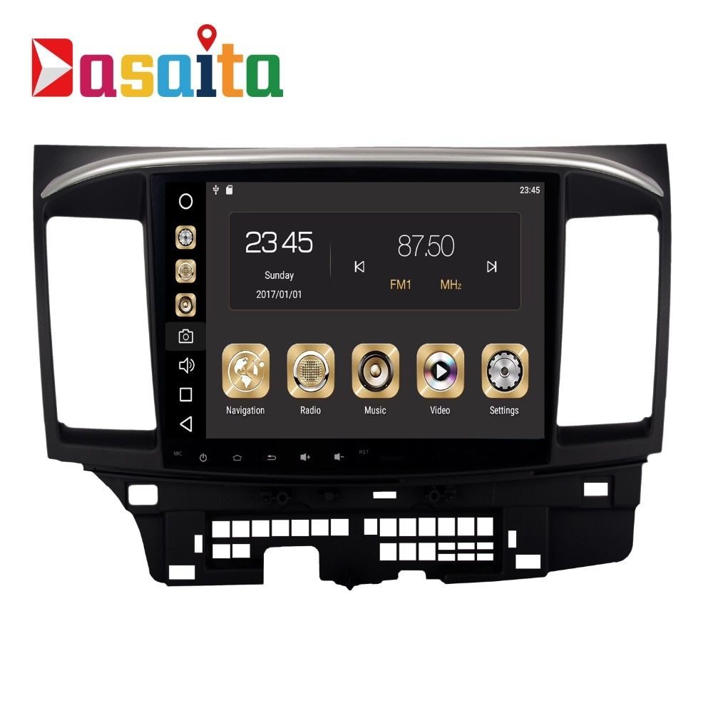 Car 2 din android 8.0 GPS for Mitsubishi Lancer autoradio navigation head unit multimedia 4Gb+32Gb 64bit PX Android PX5 8-Core