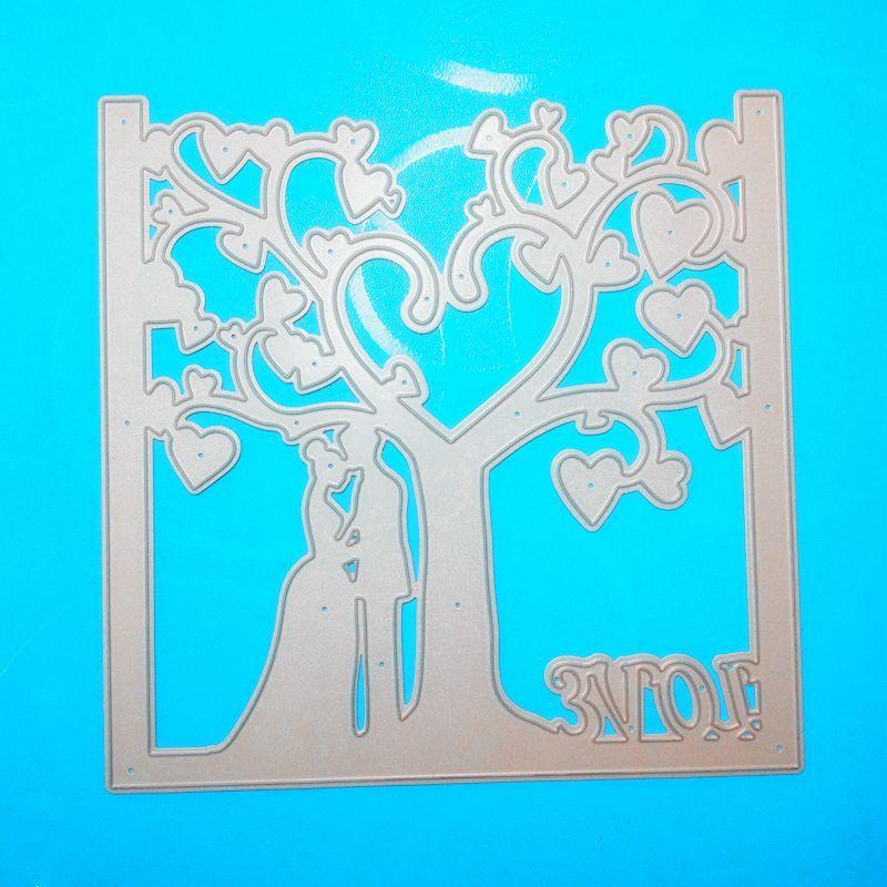 YLCD589 Wedding Metal Cutting Dies For Scrapbooking Stencils DIY Album Cards Decoration Embossing Folder Die Cutter Template