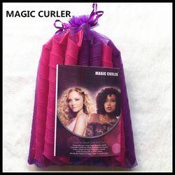 20 PCS 55 CM Variété magique spirale en plastique manuel bigoudis Magique boucles
