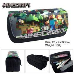 Minecraft Crayon Cas Multifonction École Crayon Sacs Grande Capacité Toile Stylo Boîte Mignon Fournitures Scolaires Bts Papeterie Cadeau