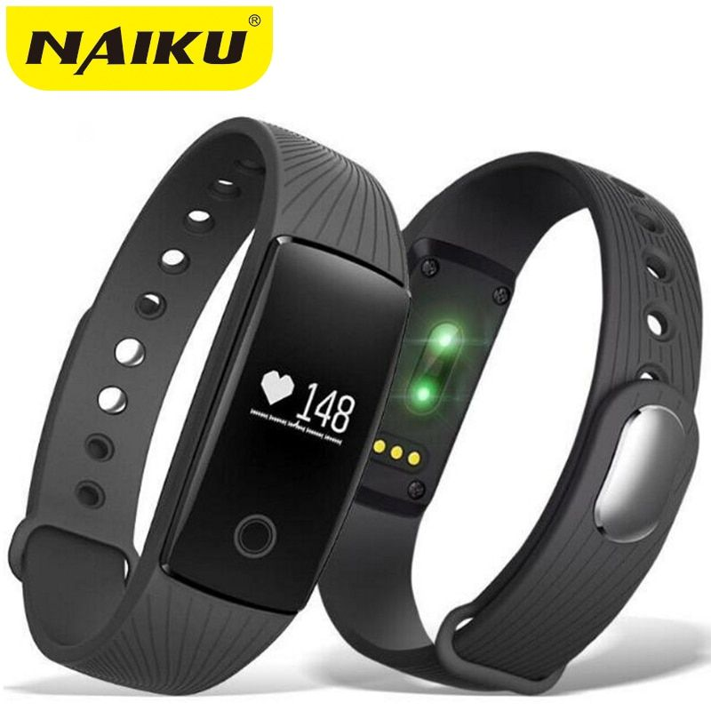 Smart Wristband Heart Rate Monitor IP67 Sport Fitness Bracelet Tracker Smart Bluetooth band For <font><b>Android</b></font> IOS PK miband 2 ID107