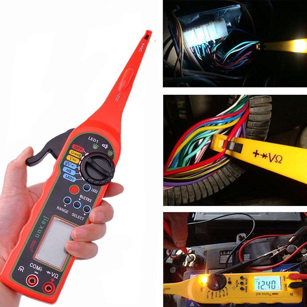 Power Electrical Multi-function Auto Circuit Tester Multimeter Lamp Car Repair Automotive Electrical Multimeter 0V-380V( Screen)