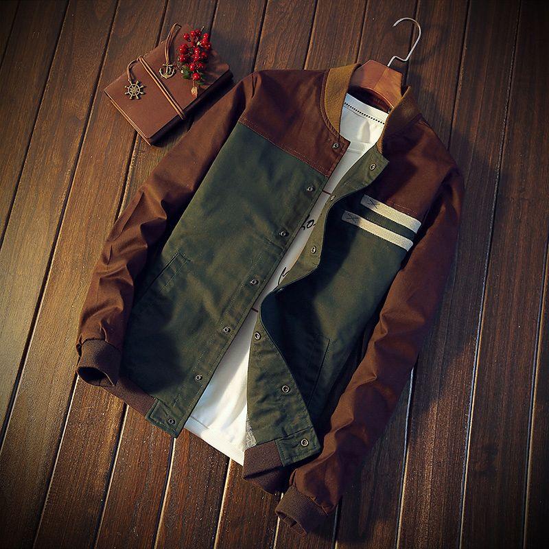 TG6404 Barato al por mayor 2017 nueva coincidencia de color cultiva su moralidad párrafo corto cuello de la chaqueta masculina uniforme de béisbol