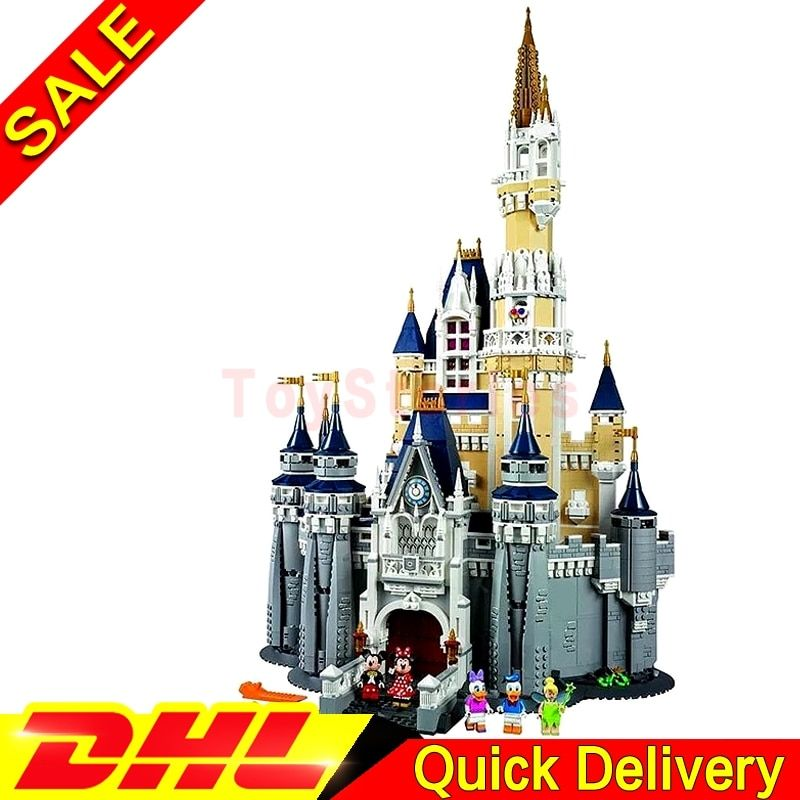 LEPIN 16008 Cinderella Princess Castle City 4080pcs Model Building Block Kid legoings Toys Gift Clone 71040