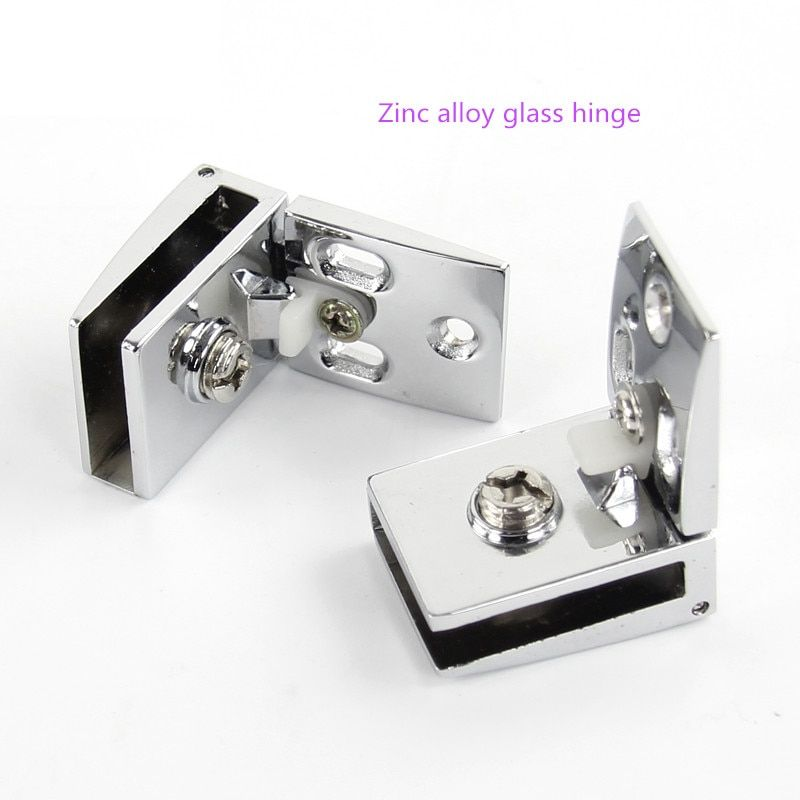 Free shipping zinc alloy glass hinge, open hole glass door cabinet, wine cabinet hinge, upper and lower hinge