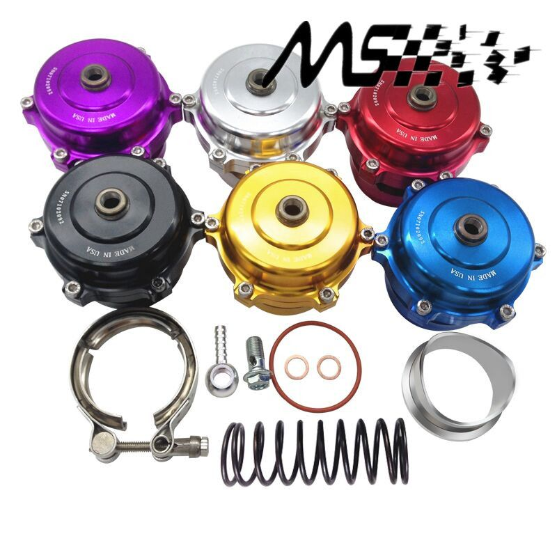 Tial style 50mm Blow Off Valve Universal Adjustable turbo Blow Off with Flange color Silver,Red,Blue,purple,Black,Gold