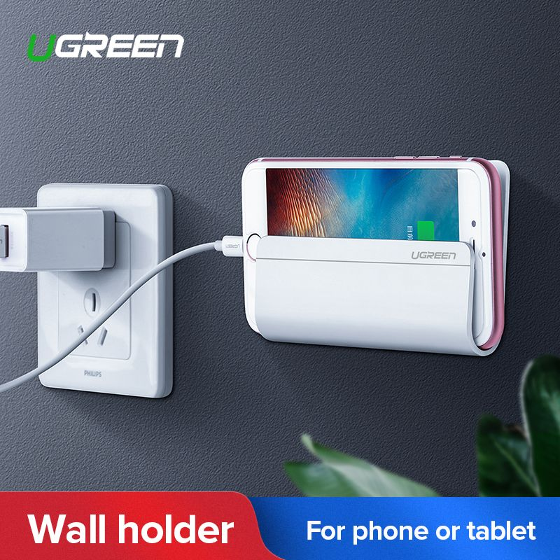 Ugreen Mobile Phone Holder for iPhone Xs Max 8 7 Wall Mount Holder Adhesive Stand for Samsung Galaxy S9 Plus Phone Tablet Stand