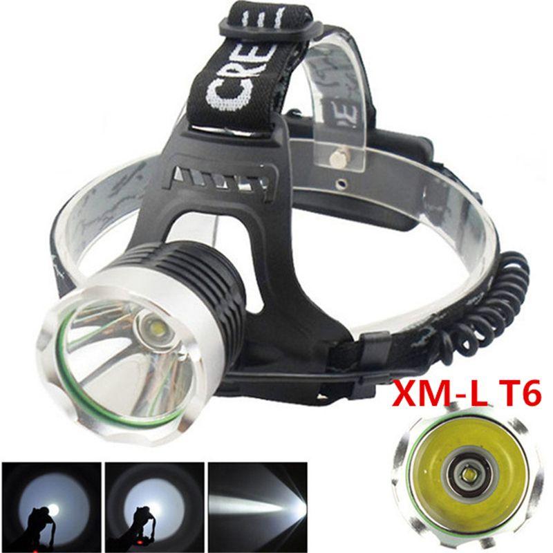 Camp XML T6 Projecteur LED Phare Haute Puissance LED Tête lampe 2000lm lampe de Poche Tête de La Torche 3 mode