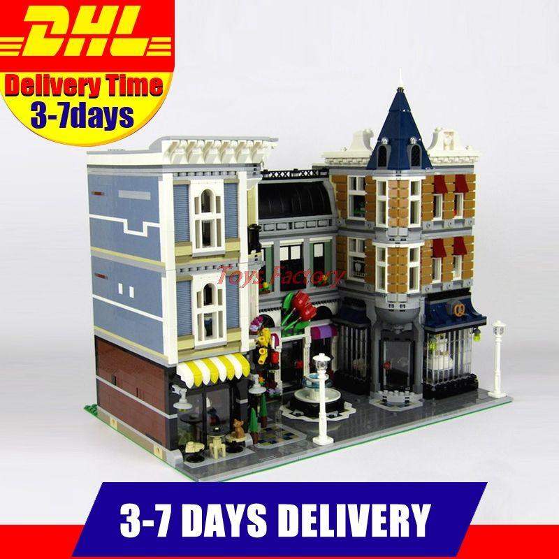 In Stock 2018 LEPIN 15019 4002pcs Assembly Square  City Series Model Building Kits Blocks Bricks Clone 10255