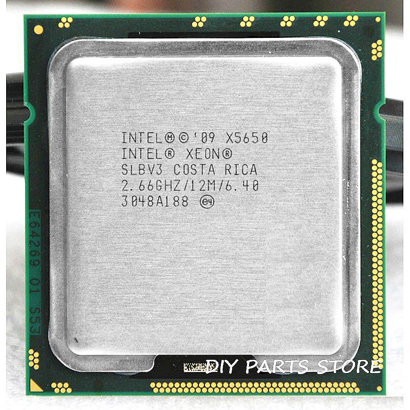 INTEL XONE X5650 Six core 2.67 MHZ LeveL2 12 M 6 core TRAVAIL POUR lga 1366 montherboard