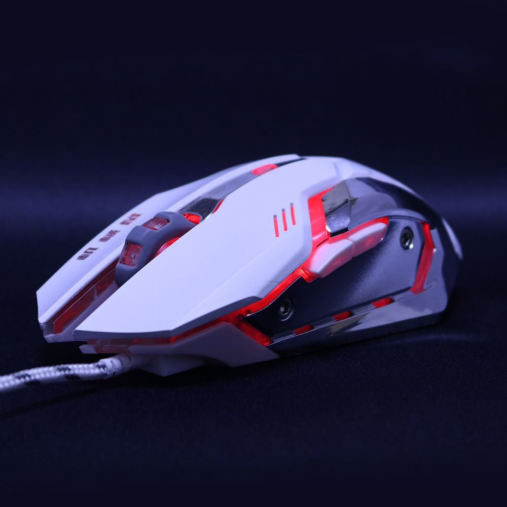 Silencieux muet silencieux 3200 dpi réglage USB 6D filaire optique ordinateur souris de jeu souris LED pour ordinateur PC ordinateur portable pour Dota 2