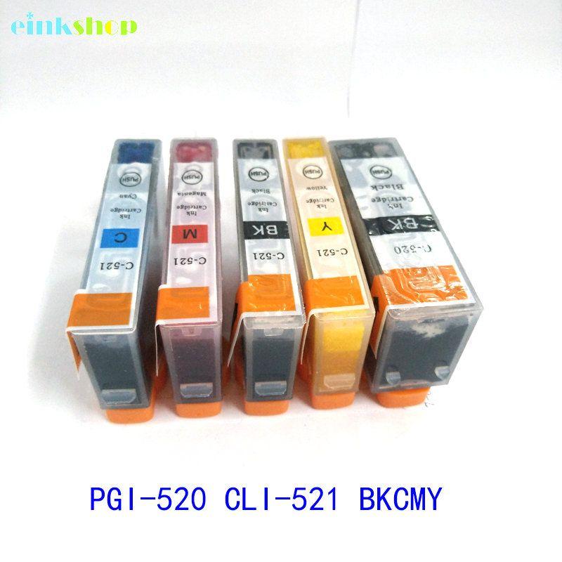 1set PGI-520 CLI-521 cartouche d'encre pour Canon Pixma MP540 MP550 MP560 MP620 MP630 MP640 MP980 MP990 MX860 MX870 IP3600 igp 520