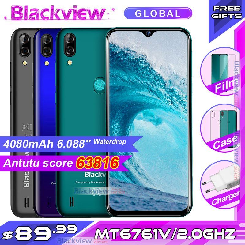 Blackview A60 Pro Smartphone MTK6761 Quad Core 6.088 ''écran goutte d'eau 3GB RAM 16GB ROM Android 9.0 4G téléphone portable A60PRO