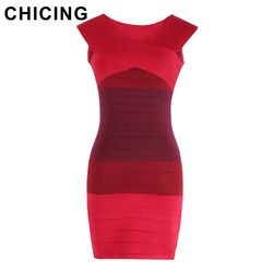 CHICING 2016    Sexy Slash         Bodycon Dress Vestidos A148007