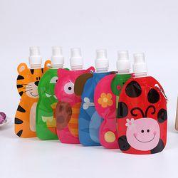 360 ml Eco Friendly Pliable Animal de Bande Dessinée Sac D'eau Bouteille De Boisson Voyage Sécuritaire pour les Enfants Enfants Cadeau