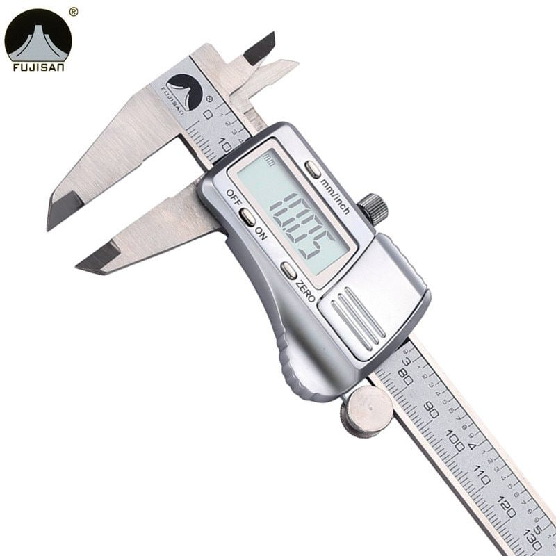 Pieds à coulisse numériques FUJISAN 0-150mm/0.01 en acier inoxydable micromètre jauge Instruments de mesure électroniques