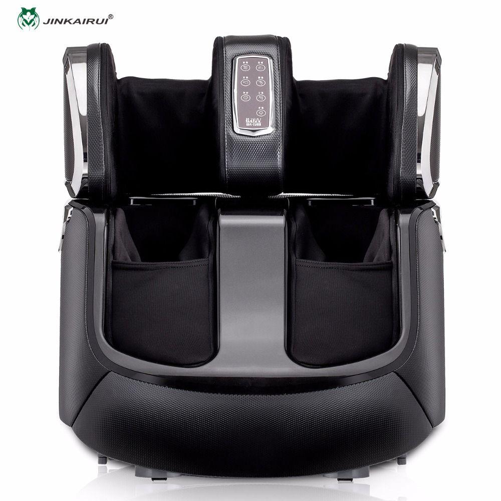 JinKairui Automatische Kneten Roll Shiatsu Luft Kompression Füße Massage Elektrische Wärme Fuß Massager Kalb Haushalts Maschine