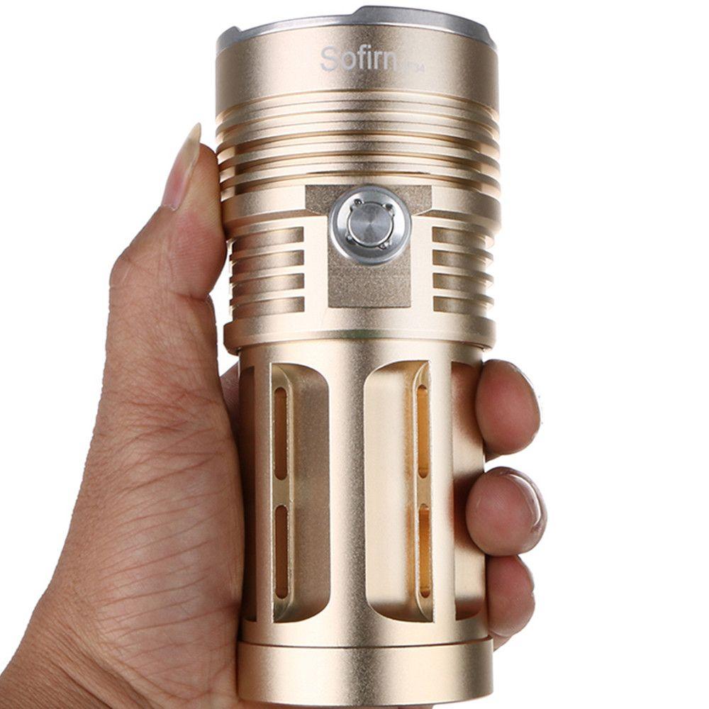 Sofirn SF34 Powerful LED Flashlight Torch Light 18650 Tactical Flashlight handheld lights 5 modes linterna camping hunting