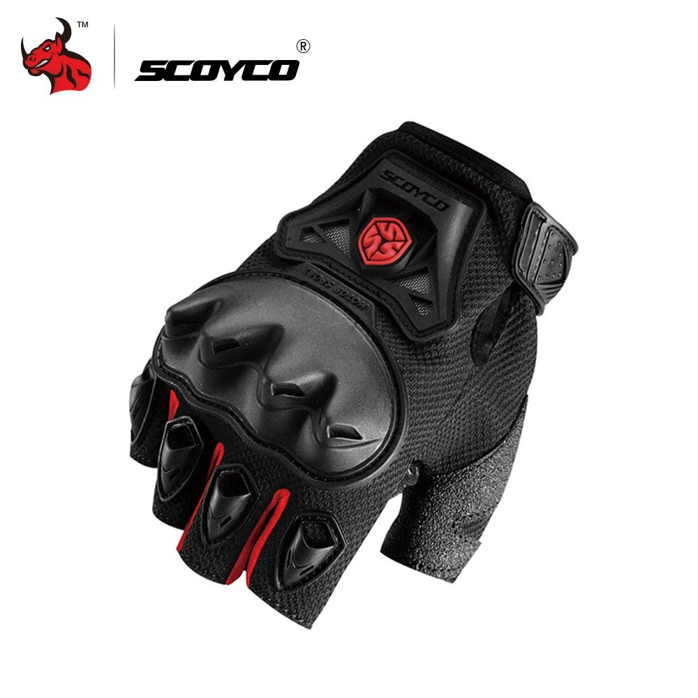 SCOYCO Motocross Off-Road Racing Gloves Motorcycle Riding Half Finger Gloves Summer Outdoor Sports Dirt Bike Enduro Guantes Luva